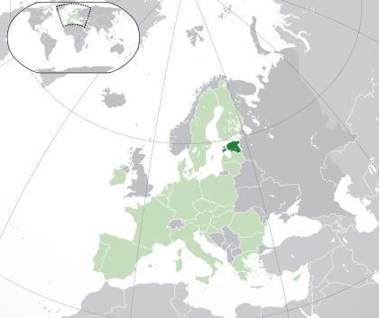 Estonia on a map