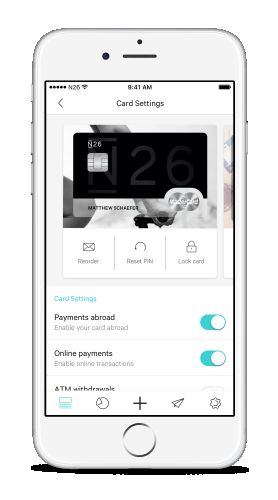 No matter which plan you choose, you will still use the same amazing N26 app