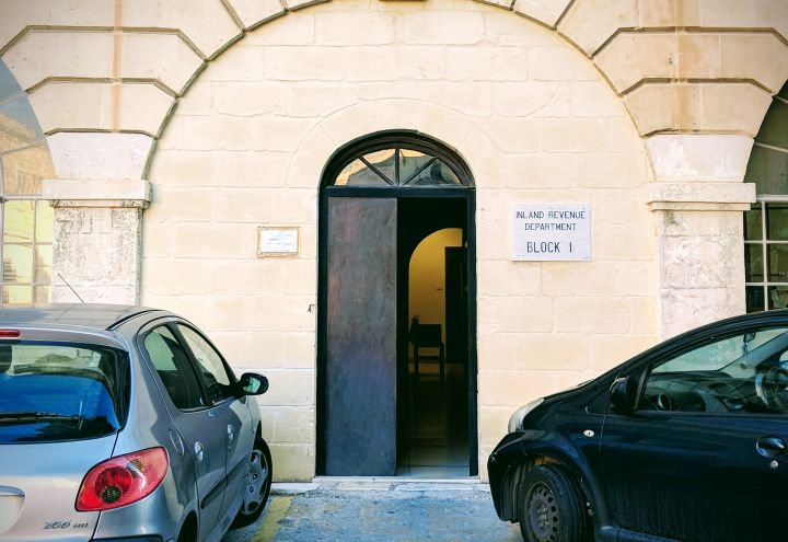 Go to IRD office entrance in Floriana, Malta to get your tax number
