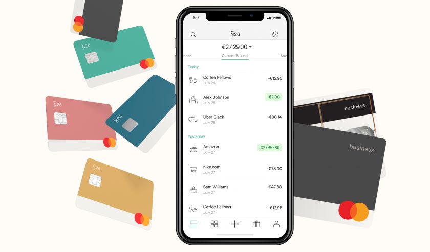 N26 Business cards and app