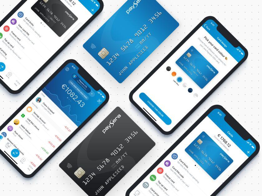 Paysera mobile app and Visa card
