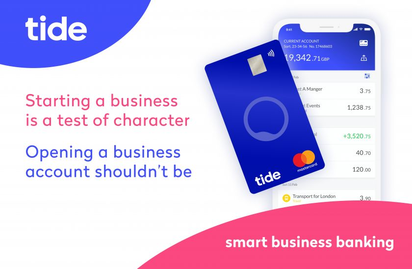 Tide mobile app and debit card