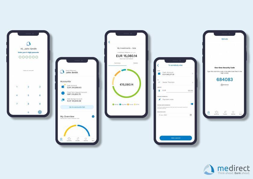 MeDirect mobile app