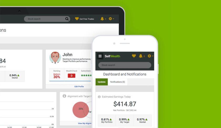 SelfWealth mobile and web platform
