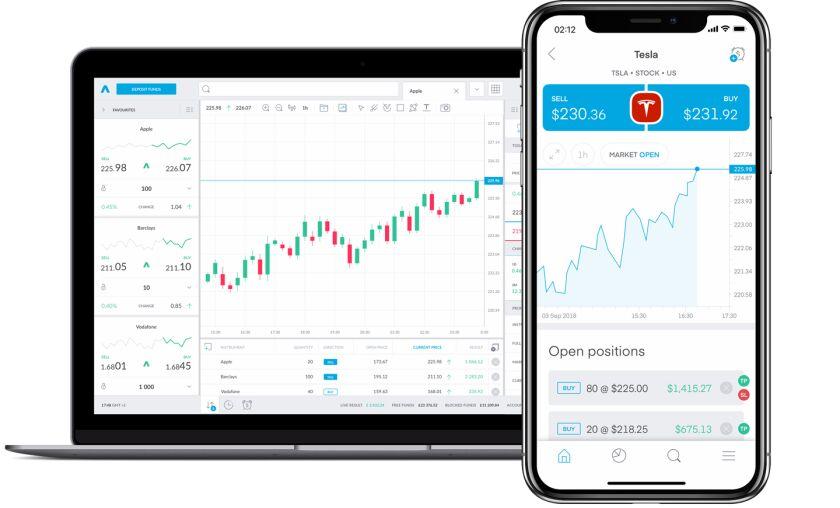 Trading 212 mobile and desktop trading platforms