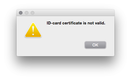 ID-card certificate is not valid